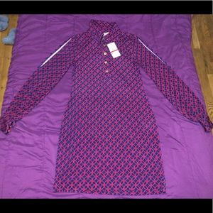 Petite Red and Navy Dress Shirt